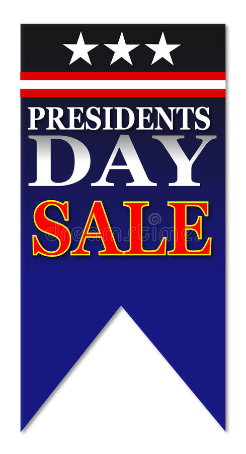 Ευτυχής πώληση ημέρας Προέδρων ελεύθερη απεικόνιση δικαιώματος