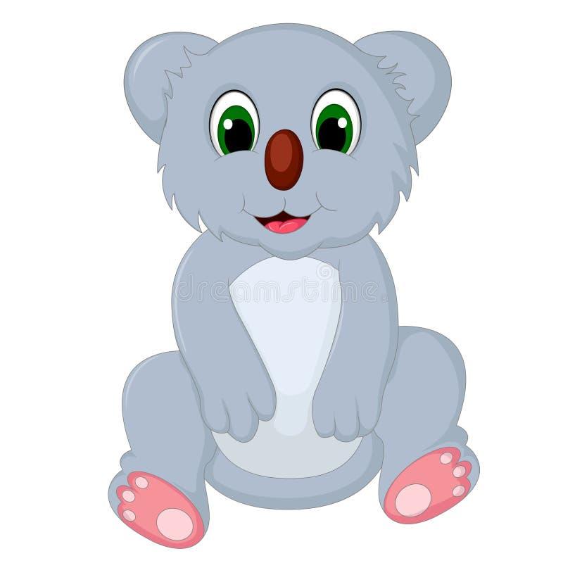 Ευτυχής συνεδρίαση κινούμενων σχεδίων koala ελεύθερη απεικόνιση δικαιώματος