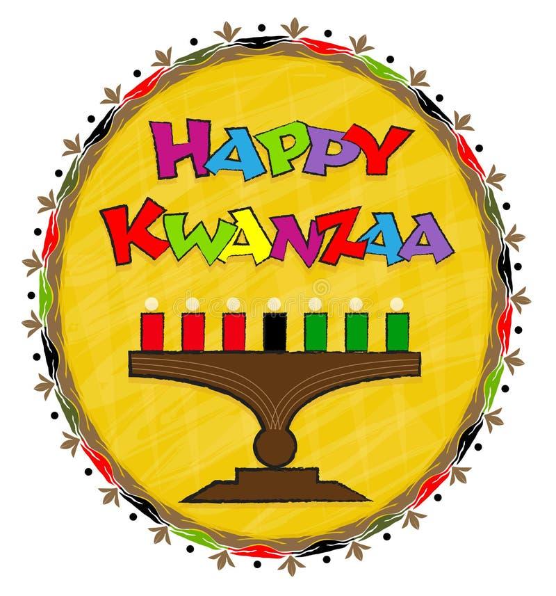 Ευτυχής τέχνη συνδετήρων Kwanzaa απεικόνιση αποθεμάτων