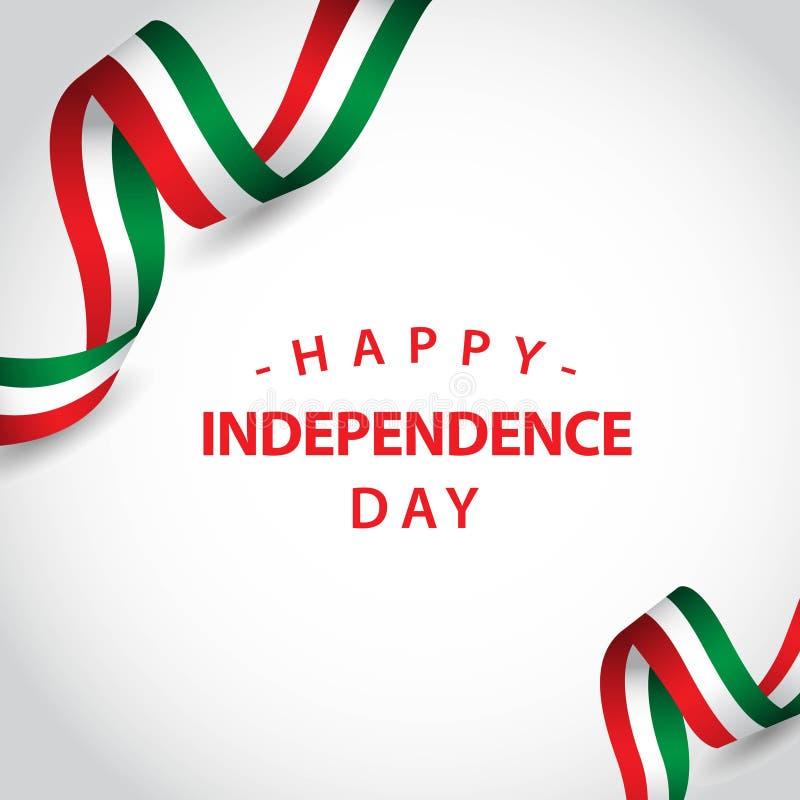 Ευτυχής της Ιταλίας ανεξάρτητη απεικόνιση σχεδίου προτύπων ημέρας διανυσματική διανυσματική απεικόνιση