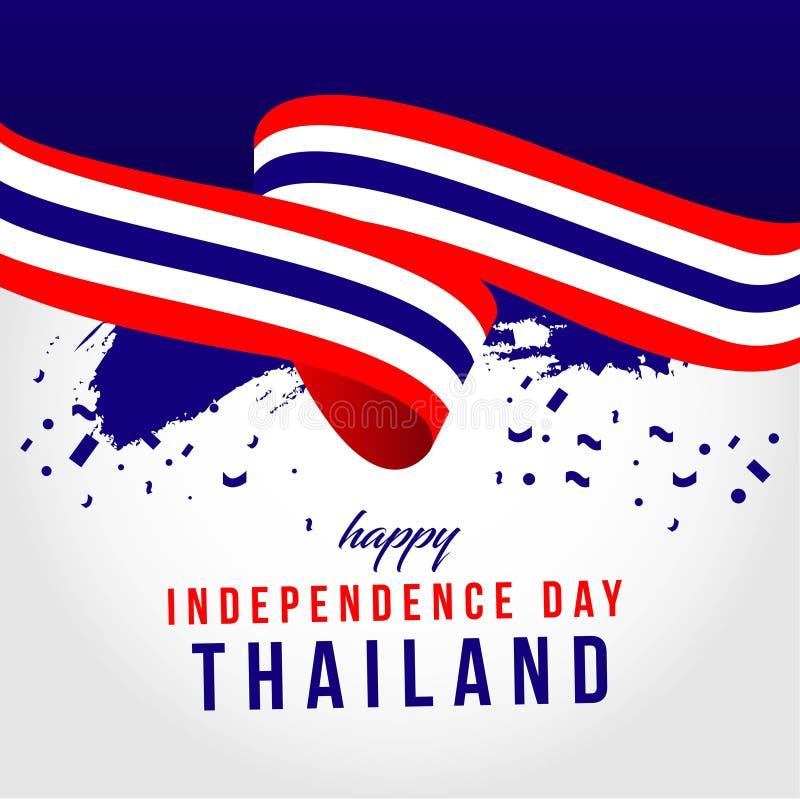 Ευτυχής της Ταϊλάνδης ανεξάρτητη απεικόνιση σχεδίου προτύπων ημέρας διανυσματική ελεύθερη απεικόνιση δικαιώματος