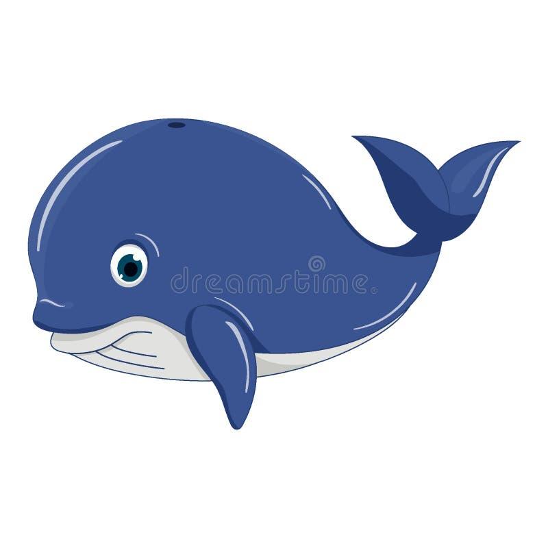 Ευτυχής φάλαινα επίσης corel σύρετε το διάνυσμα απεικόνισης στοκ φωτογραφία
