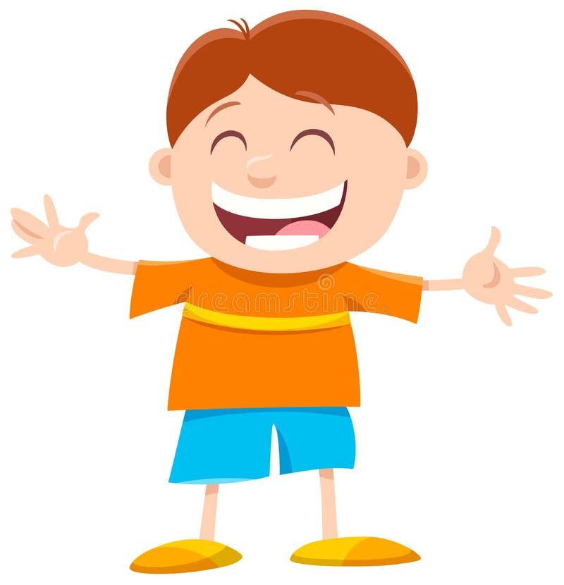 Ευτυχής χαρακτήρας κινουμένων σχεδίων μικρών παιδιών ελεύθερη απεικόνιση δικαιώματος