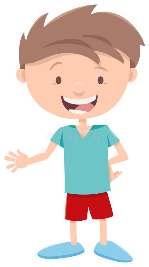 Ευτυχής χαρακτήρας μικρών παιδιών διανυσματική απεικόνιση