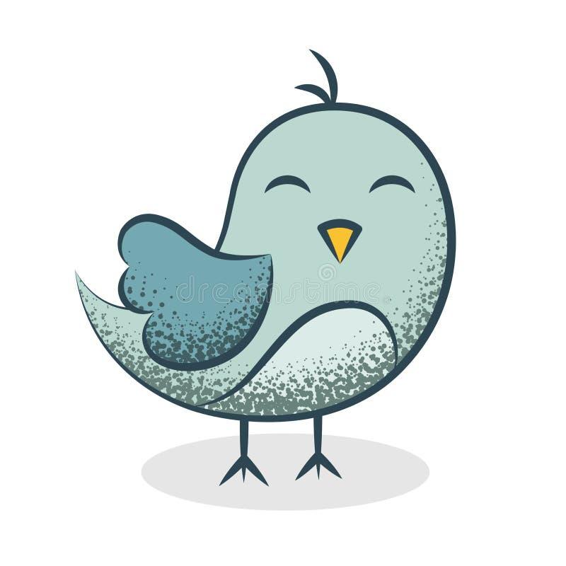 Ευτυχής χαριτωμένη απεικόνιση πουλιών ελεύθερη απεικόνιση δικαιώματος