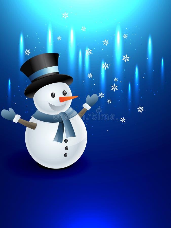 Ευτυχής χιονάνθρωπος ελεύθερη απεικόνιση δικαιώματος