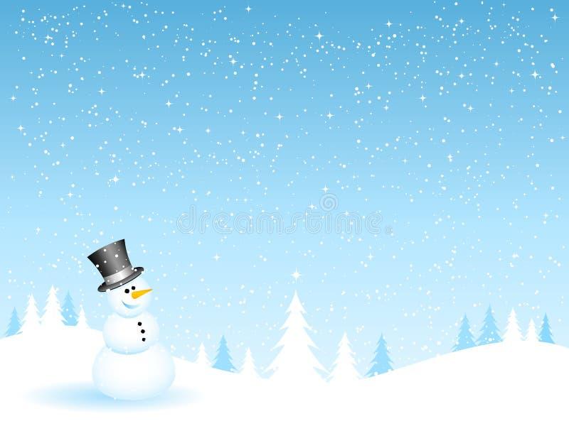 ευτυχής χιονάνθρωπος απεικόνιση αποθεμάτων
