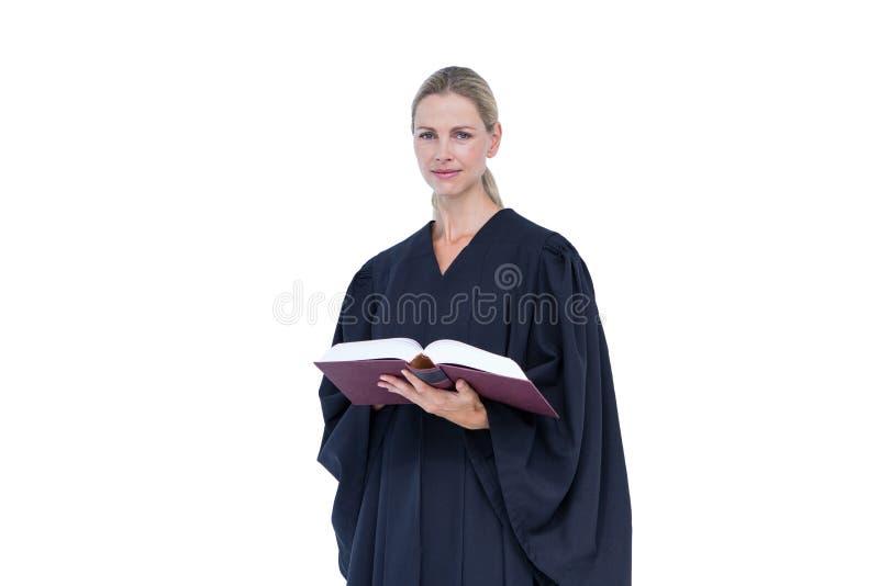 Ευτυχής όμορφος κώδικας εργασίας εκμετάλλευσης δικηγόρων στοκ φωτογραφία με δικαίωμα ελεύθερης χρήσης