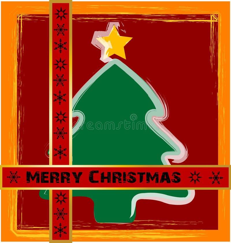 ευτυχή δέντρα Χριστουγέννων ελεύθερη απεικόνιση δικαιώματος