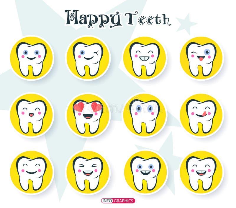 ευτυχή δόντια στοκ εικόνες με δικαίωμα ελεύθερης χρήσης