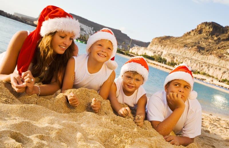 ευτυχή καπέλα Χριστουγέ&n στοκ εικόνα με δικαίωμα ελεύθερης χρήσης