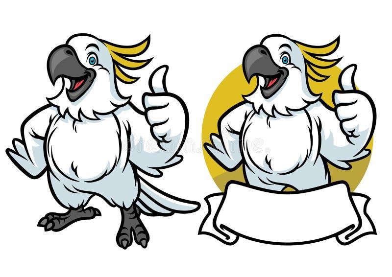 Ευτυχή κινούμενα σχέδια παπαγάλων διανυσματική απεικόνιση