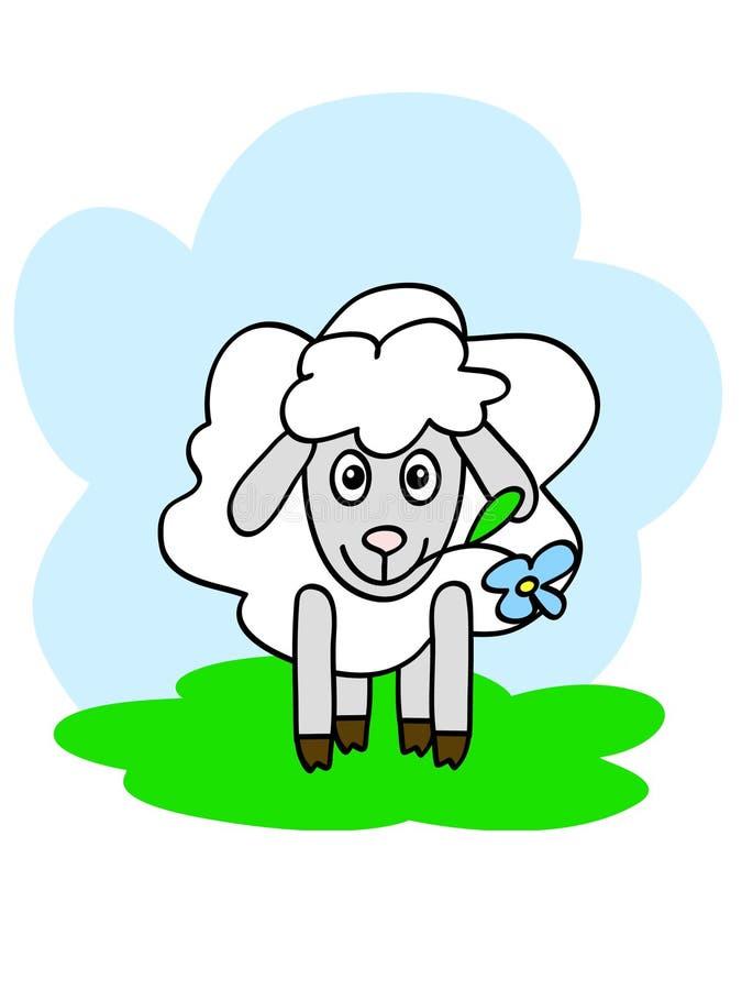 ευτυχή πρόβατα απεικόνιση αποθεμάτων