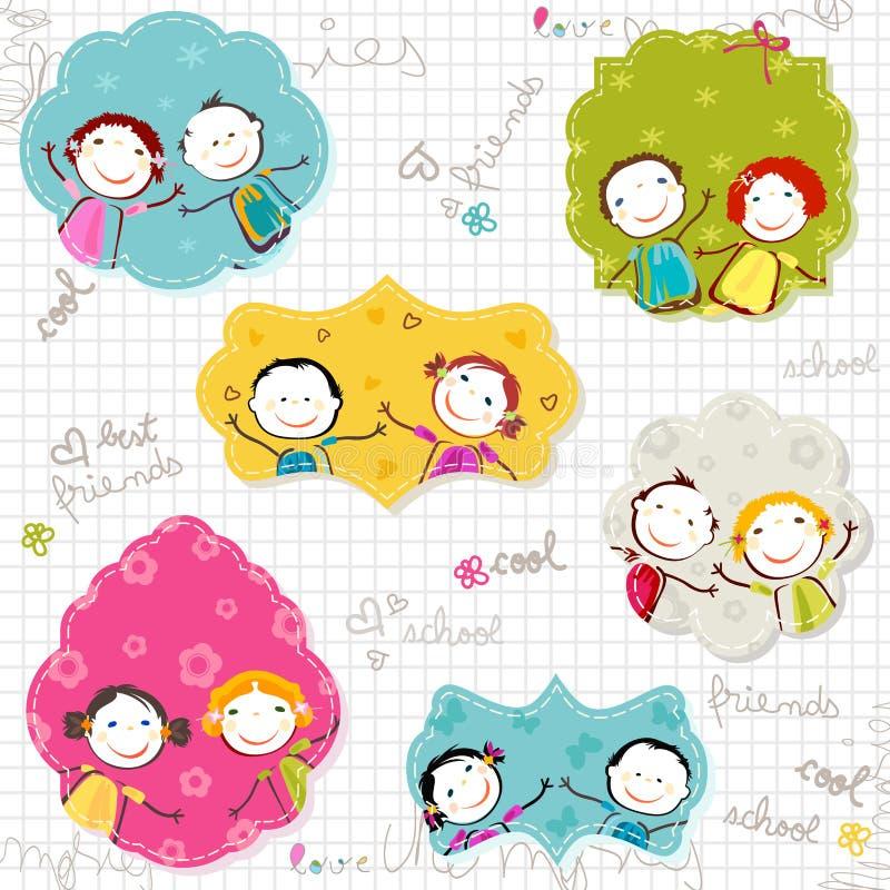 Ευτυχή πλαίσια παιδιών απεικόνιση αποθεμάτων