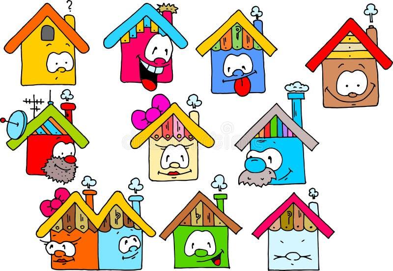 ευτυχή σπίτια στοκ εικόνες