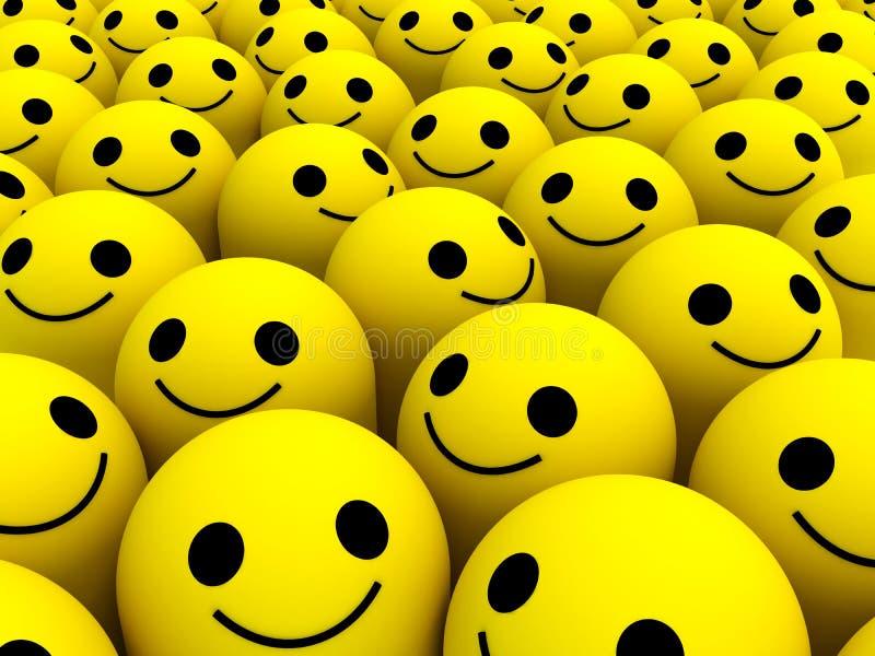 Ευτυχή χαμόγελα ελεύθερη απεικόνιση δικαιώματος