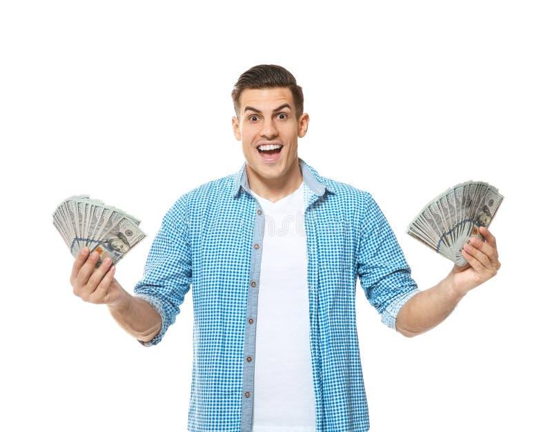 ευτυχή χρήματα ατόμων στοκ εικόνες με δικαίωμα ελεύθερης χρήσης