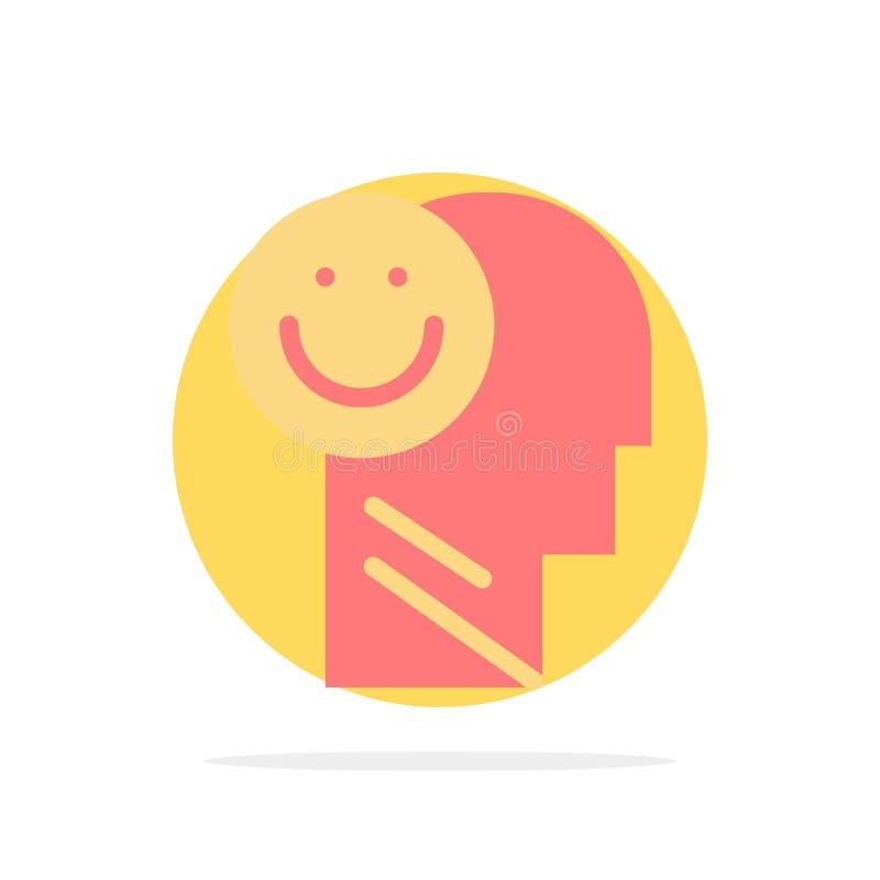 Ευτυχία, ευτυχής, ανθρώπινη, ζωή, αισιοδοξίας αφηρημένο κύκλων εικονίδιο χρώματος υποβάθρου επίπεδο ελεύθερη απεικόνιση δικαιώματος