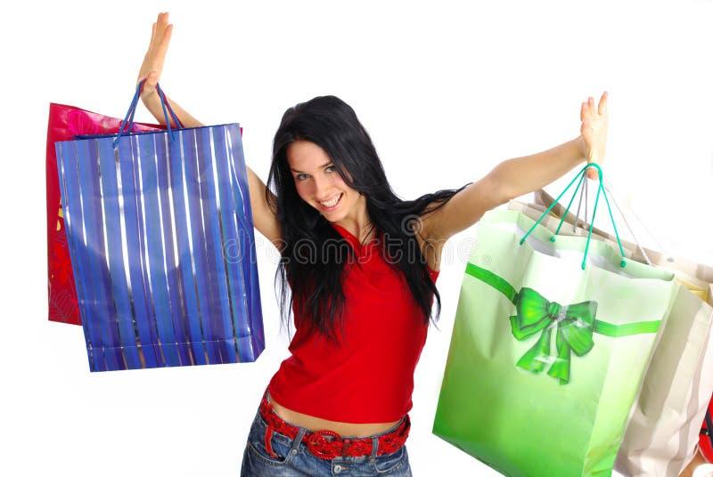 Download ευτυχείς αγορές κοριτ&sig στοκ εικόνες. εικόνα από χριστούγεννα - 2231124