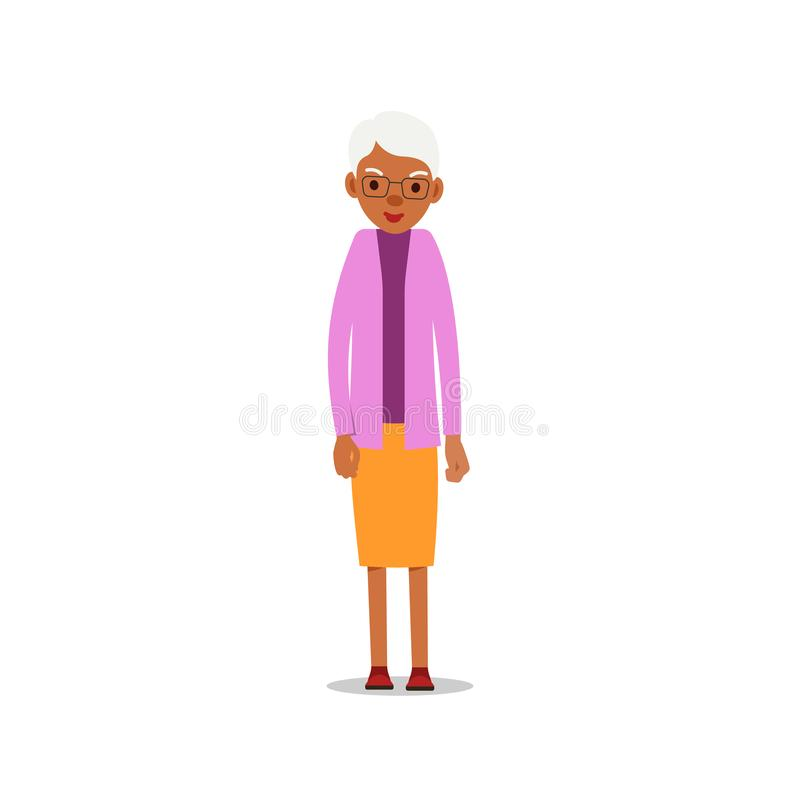Ευτυχείς αφρικανικές ηλικιωμένες γυναίκες Χαριτωμένη γιαγιά που στέκεται και που χαμογελά Παραδοσιακός τρόπος ζωής αποχώρησης Πιό απεικόνιση αποθεμάτων