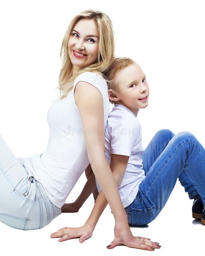 Ευτυχείς μητέρα και γιος στοκ φωτογραφία