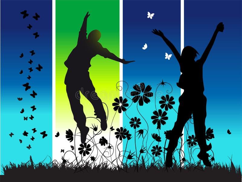 ευτυχείς νεολαίες συ&m ελεύθερη απεικόνιση δικαιώματος