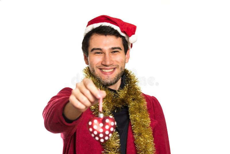 ευτυχείς νεολαίες santa στοκ φωτογραφία με δικαίωμα ελεύθερης χρήσης