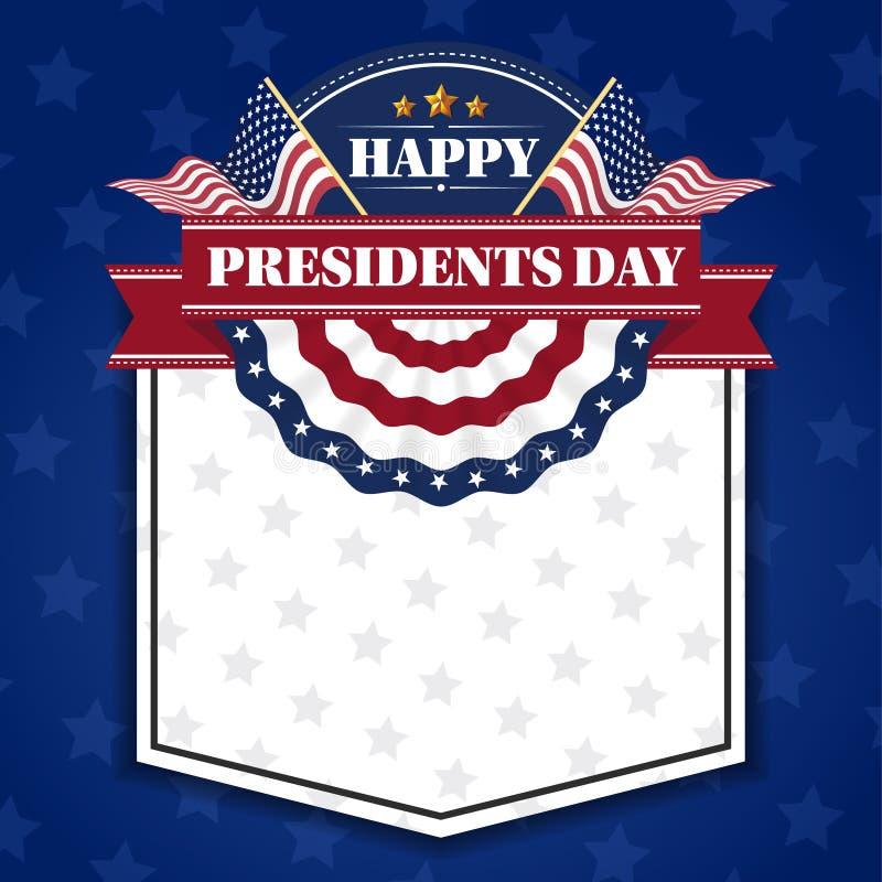 Ευτυχείς Πρόεδροι Day Banner Background και ευχετήριες κάρτες ελεύθερη απεικόνιση δικαιώματος