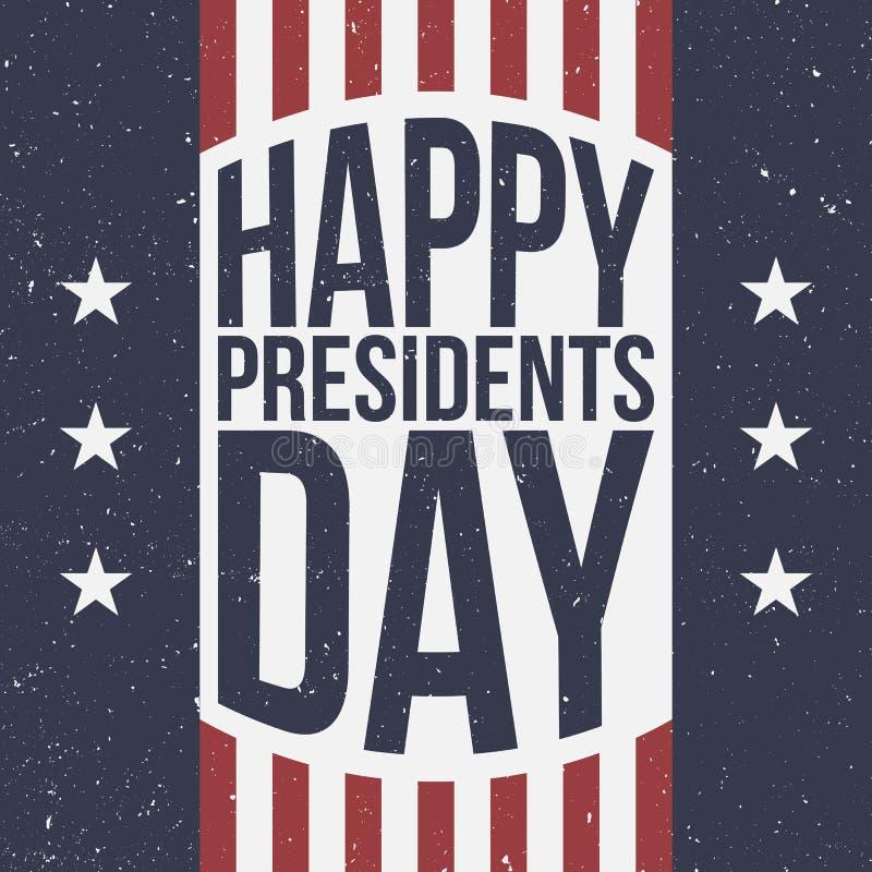 Ευτυχείς Πρόεδροι Day πατριωτικό υπόβαθρο διανυσματική απεικόνιση
