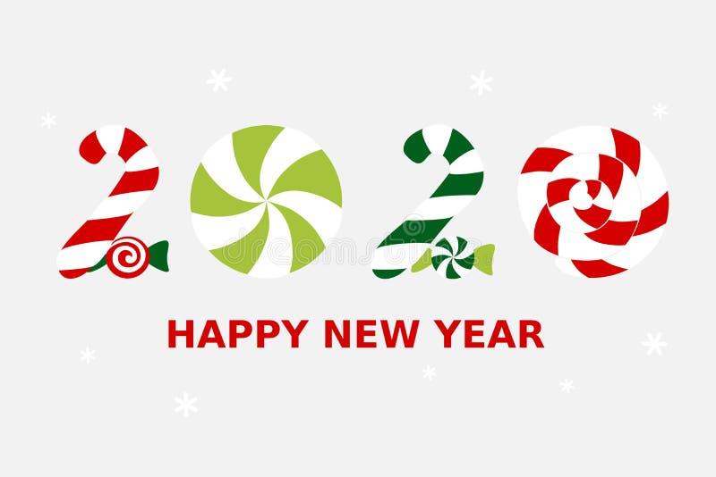 2020 Ευτυχισμένος ο καινούργιος χρόνος ελεύθερη απεικόνιση δικαιώματος