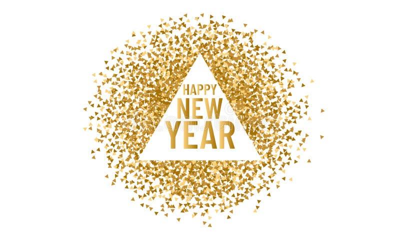 Ευτυχισμένος ο καινούργιος χρόνος Χριστουγεννιάτικο τρίγωνο πλαίσιο για χώρο αντιγραφής 2020 Ανάπτυγμα τριγώνου διανύσματος και λ απεικόνιση αποθεμάτων