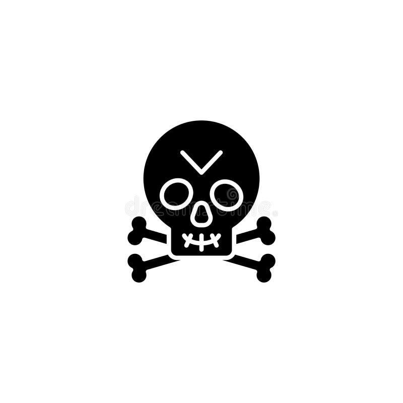 Ευχάριστα μαύρη έννοια εικονιδίων του Roger Ευχάριστα επίπεδο διανυσματικό σύμβολο του Roger, σημάδι, απεικόνιση διανυσματική απεικόνιση