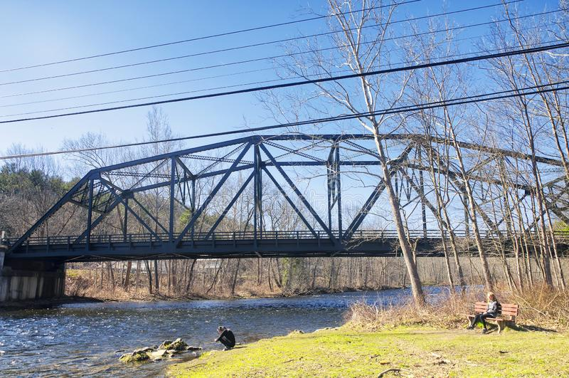 Ευχάριστη γέφυρα Κοννέκτικατ κοιλάδων στοκ εικόνες
