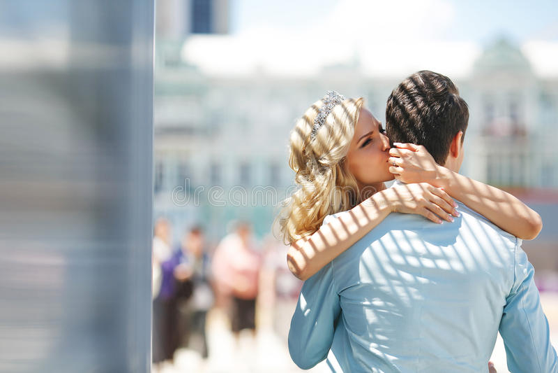 Ευχάριστο φιλί στοκ φωτογραφία με δικαίωμα ελεύθερης χρήσης