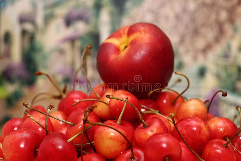 Ευχαρίστηση φρούτων παραδείσου Ακόμα ζωή των φρούτων στοκ εικόνες