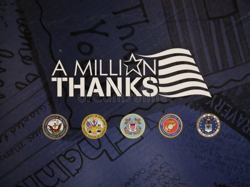 Ευχαριστία των κλάδων των οπλισμένων δυνάμεών μας στοκ εικόνες με δικαίωμα ελεύθερης χρήσης