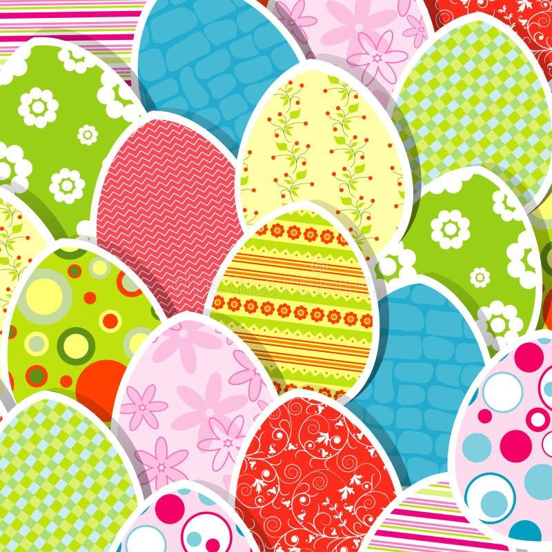 Ευχετήρια κάρτα αυγών προτύπων ελεύθερη απεικόνιση δικαιώματος