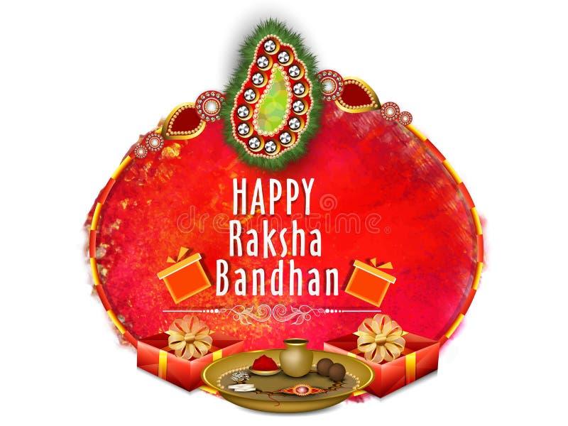 Ευχετήρια κάρτα για τον εορτασμό Raksha Bandhan ελεύθερη απεικόνιση δικαιώματος