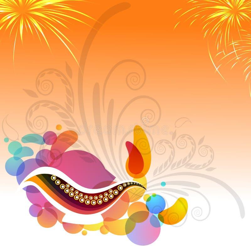 Ευχετήρια κάρτα για τον ευτυχή εορτασμό Diwali ελεύθερη απεικόνιση δικαιώματος
