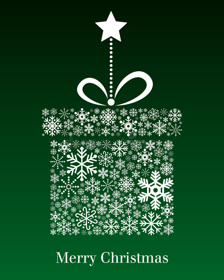 Ευχετήρια κάρτα δώρων Χριστουγέννων διανυσματική απεικόνιση