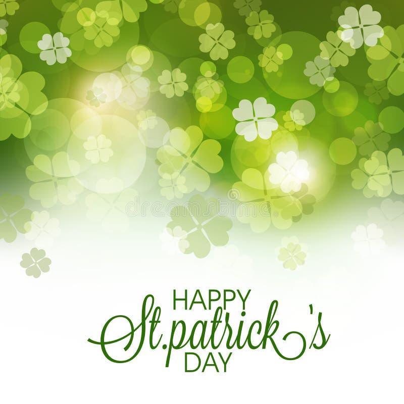 Ευχετήρια κάρτα εορτασμού ημέρας του ST Πάτρικ διανυσματική απεικόνιση