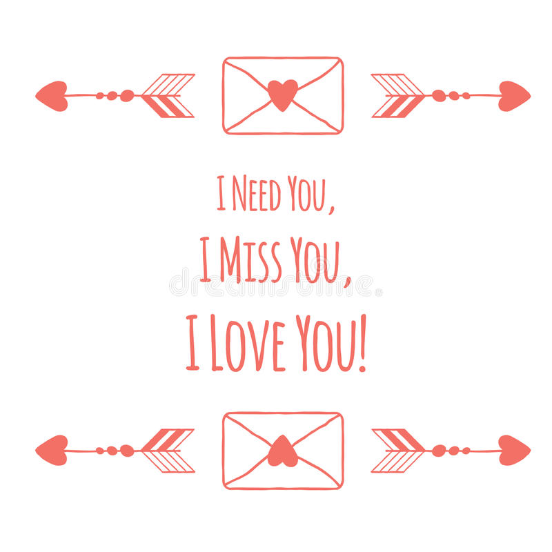 Download Ευχετήρια κάρτα ημέρας βαλεντίνων Αγίου Σας χρειάζομαι, Ι Διανυσματική απεικόνιση - εικονογραφία από καρδιά, doodle: 65375064