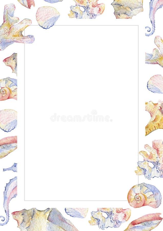 Ευχετήρια κάρτα θάλασσας απεικόνιση αποθεμάτων