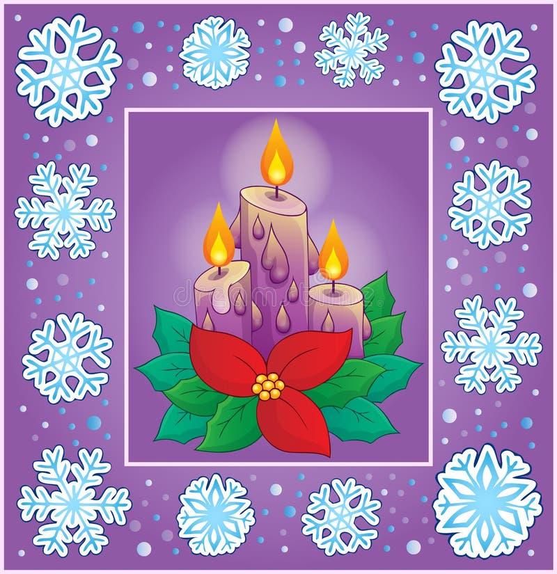 Ευχετήρια κάρτα 8 θέματος Χριστουγέννων ελεύθερη απεικόνιση δικαιώματος