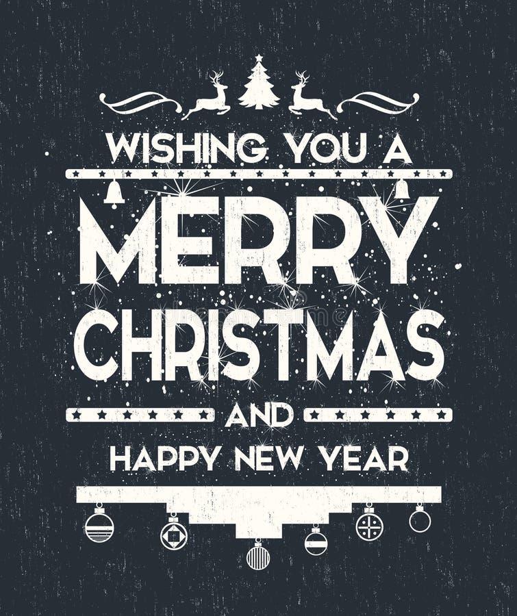 Ευχετήρια κάρτα καλής χρονιάς, νέα τυπογραφία έτους στοκ φωτογραφία