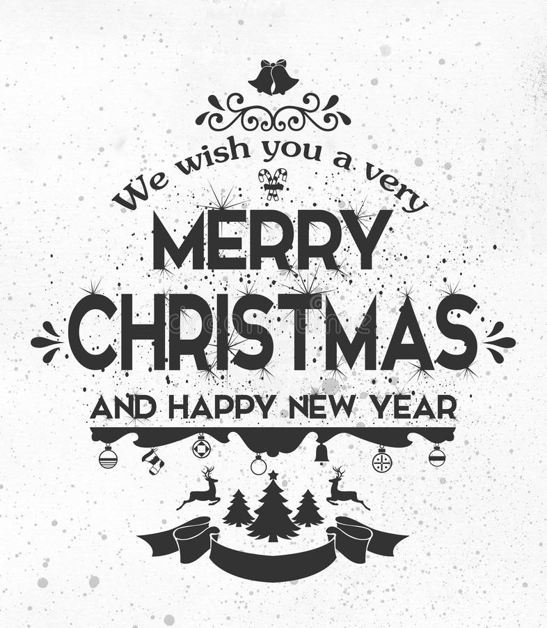 Ευχετήρια κάρτα καλής χρονιάς, νέα τυπογραφία έτους στοκ εικόνες με δικαίωμα ελεύθερης χρήσης