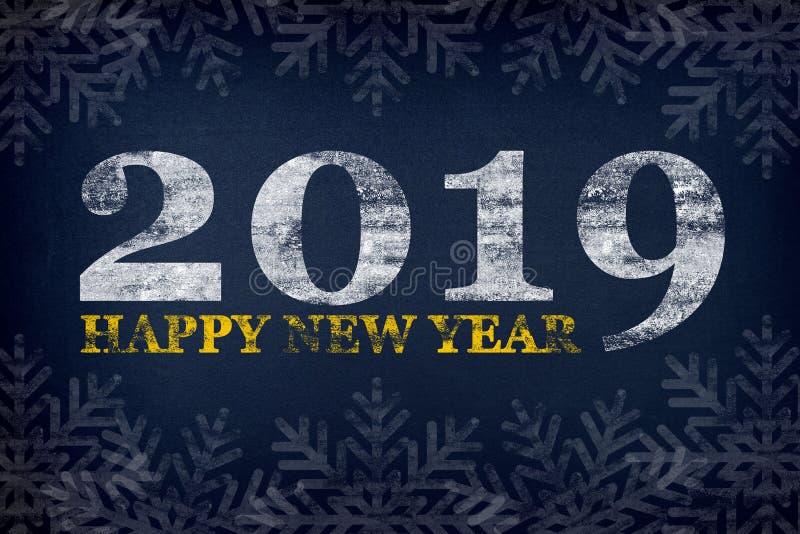 Ευχετήρια κάρτα καλής χρονιάς 2019 Νέος εορτασμός έτους και Χριστουγέννων στοκ εικόνες
