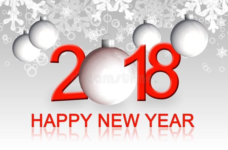 Ευχετήρια κάρτα καλής χρονιάς 2018 στοκ φωτογραφία με δικαίωμα ελεύθερης χρήσης