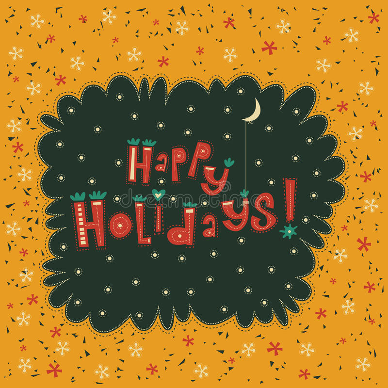 Ευχετήρια κάρτα καλές διακοπές διανυσματική απεικόνιση