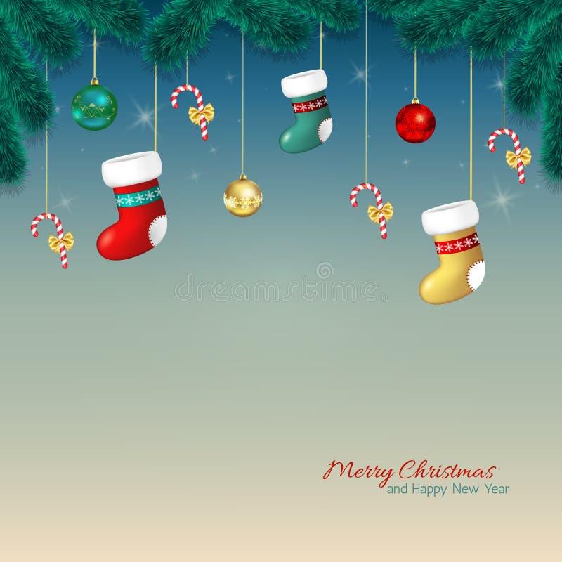 Download Ευχετήρια κάρτα κινούμενων σχεδίων Χριστουγέννων Απεικόνιση αποθεμάτων - εικονογραφία από εποχή, βακκινίων: 62717670